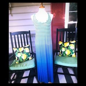 APT. 9 Striped Multicolored Maxi Tank Dress Small
